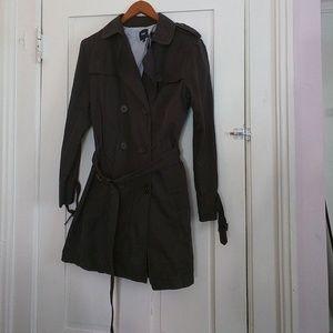 Dark charcoal grey GAP trench coat